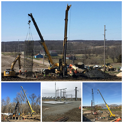 Ameren Illinois Rivers Tranmission Line Foundations