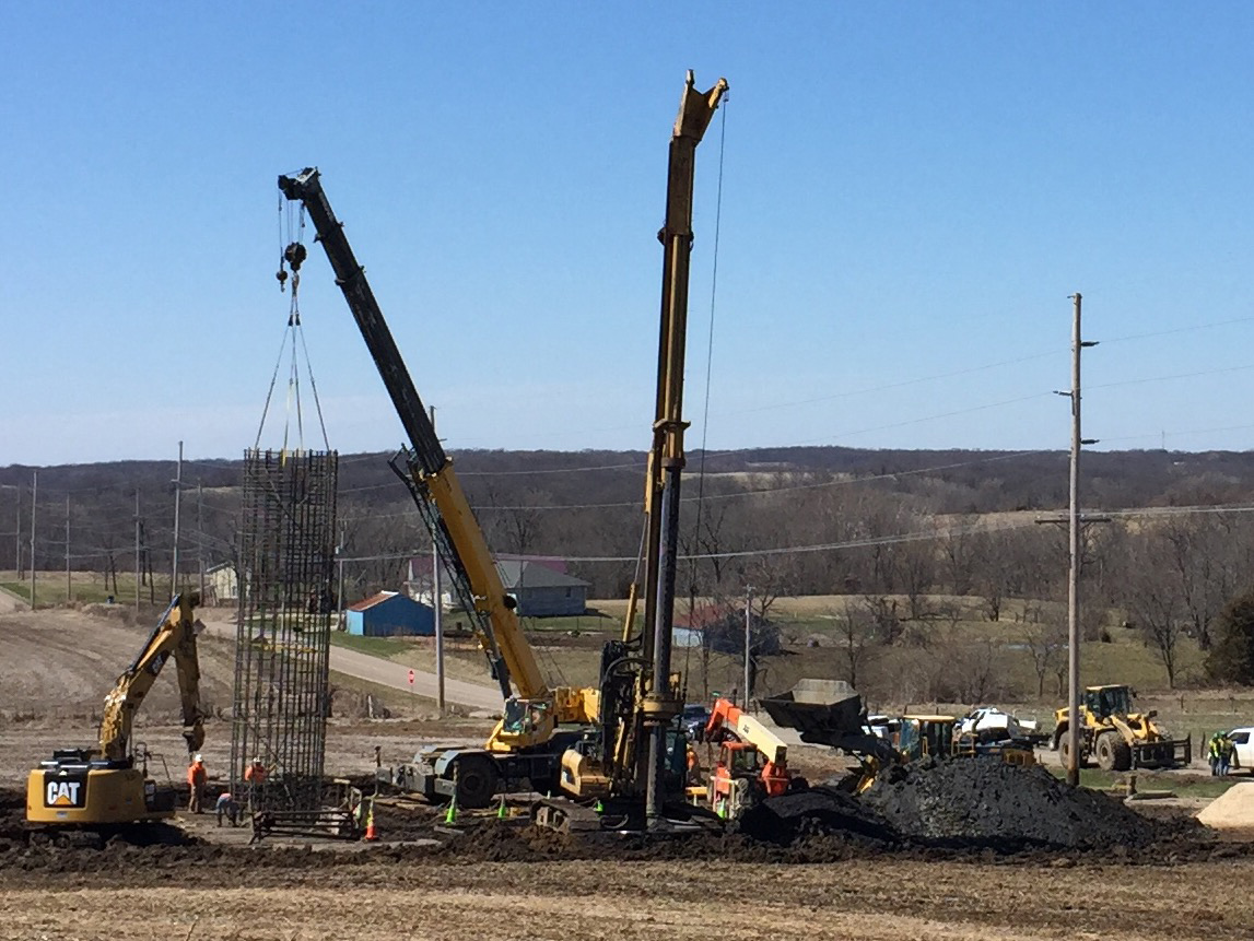 Plocher Construction - Ameren Illinois Rivers Transmission Line Foundations